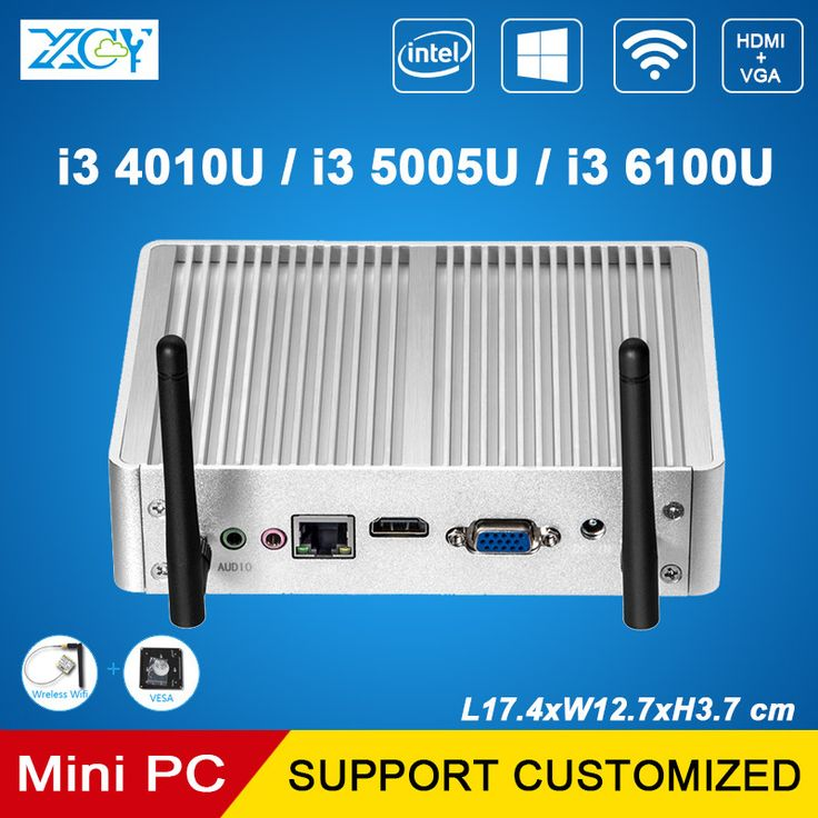 ==> [Free Shipping] Buy Best XCY Mini PC Core i3 6100U 5005U 4010U Dual Cores Fanless Mini Computer Thin Client VGA HDMI WIFI Windows 10 Linux HTPC Nettop PC Online with LOWEST Price   32816277346
