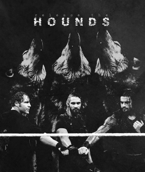 The Shield: Dean Ambrose (L), Seth Rollins (M) and Roman Reigns (R)