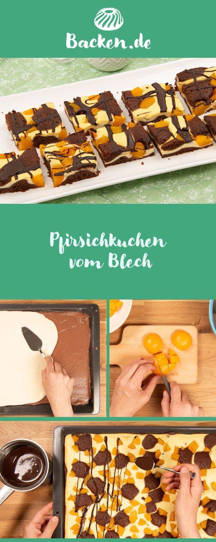 Pfirsichkuchen Vom Tablett In 2020 Kuchen Mit Pfirsich Pfirsichkuchen Lebensmittel Essen