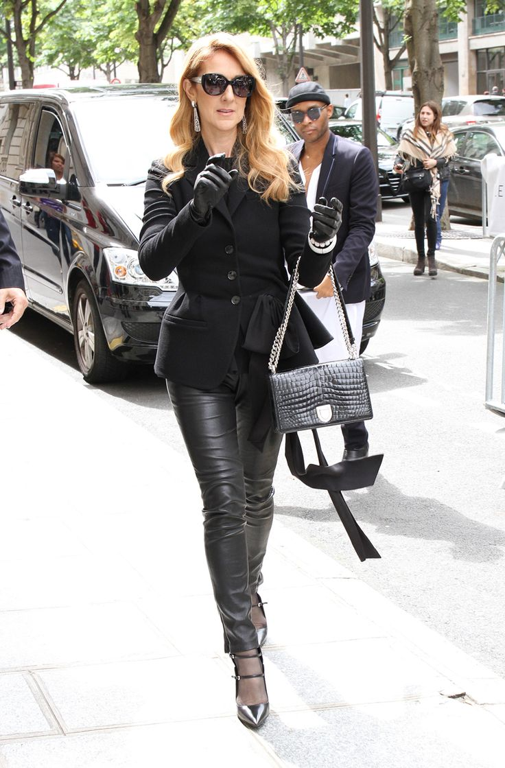 Celine Dion out and about in Paris