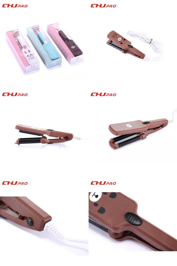[Visit to Buy] Mini Triple Barrels Hair Curling Iron Deep Waver Curling Wand Cartoon Hair Curlers Rollers 110-220V Hair Waver #Advertisement