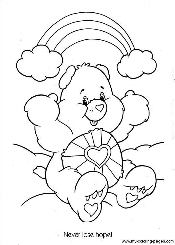 Christmas Care Bears Coloring Pages