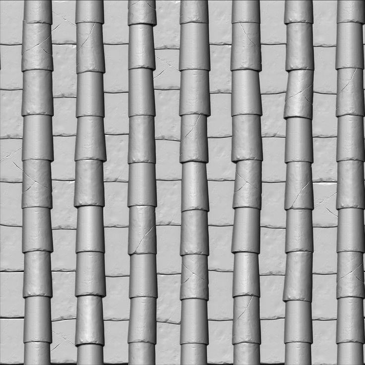 ArtStation - Roof Tile Material, Joakim Stigsson