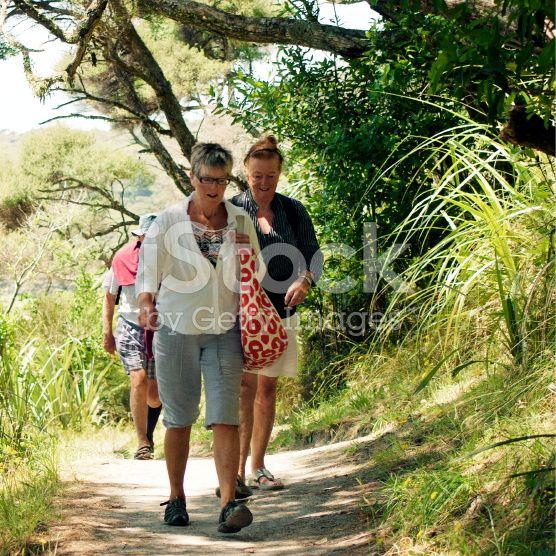 Senior People  Walking royalty-free stock photo