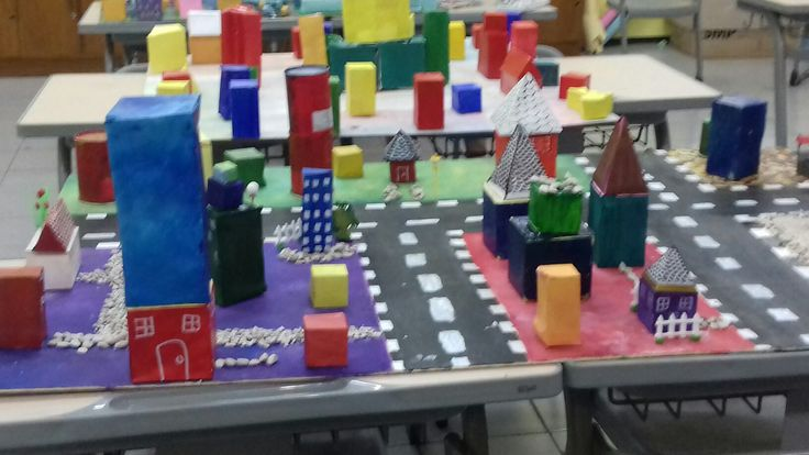 GEOMETROCITY : A city made of math.  The objective of this project is to create a city by using learned geometry skills and concepts such as: angles, coordinates, 2D shapes, 3D shapes, area, perimeter, volume, transformation, and more.  You are encouraged to be CREATIVE and use your IMAGINATION with your city