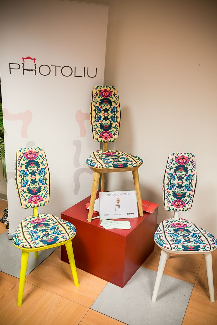 """Our """"Lana for Photoliu"""" chairs being exposed at Made in Ro great Christmas fair. This chair is available in three frame colors and two upholstery models. More details at info@photoliu.com"""