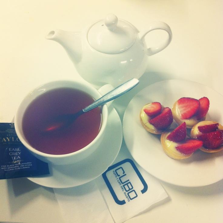 Tea taylors earl grey and strawberries tart.