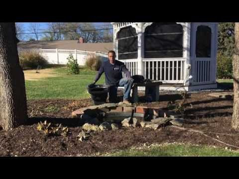 Preformed Pond Liner how to make it look pretty - YouTube
