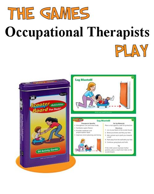 Scooter Board Fun Deck - Adapting games and toys for use in therapy. The Playful Otter (OTR),