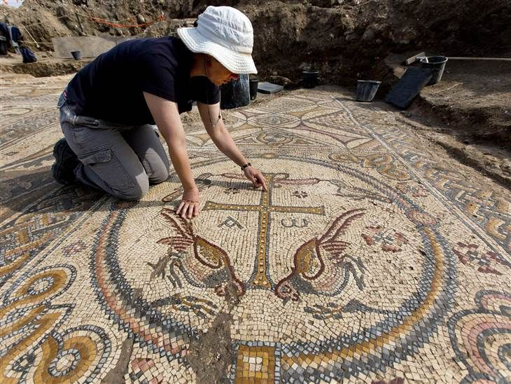 Marvelous mosaics revealed inside 1,500-year-old church in Israel - NBC News.com