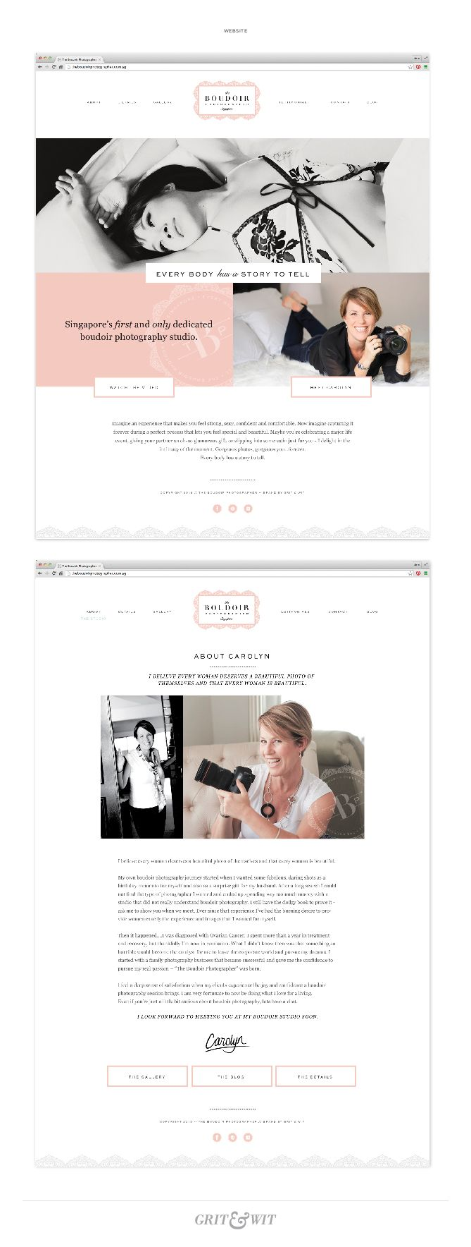 Brand Reveal // The Boudoir Photographer // #gritandwit #branding #boudoirphotographer