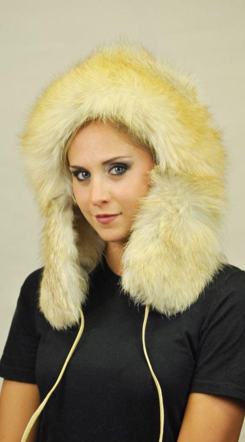 Fox fur hat ushanka http://www.amifur.com