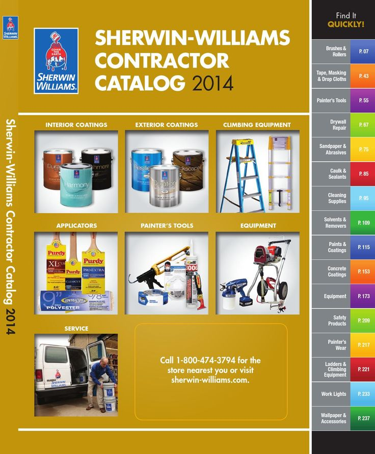 Contractor Catalog 2014  Sherwin-Williams Contractor Catalog 2014. Visit sherwin-williams.com/store-locator for the store nearest you.