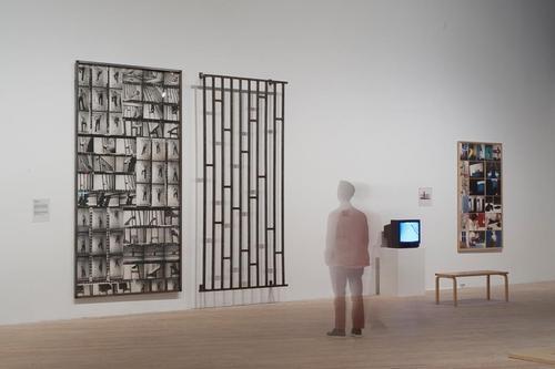 Installation view ofParallel Practices: Joan Jonas & Gina Pane.