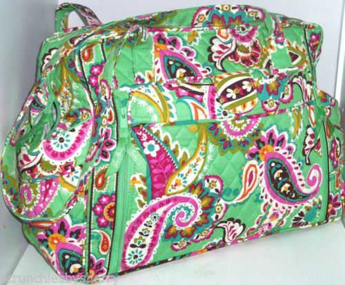 vera bradley make a change baby bag tutti frutti diaper green pink paisley vera bradley. Black Bedroom Furniture Sets. Home Design Ideas