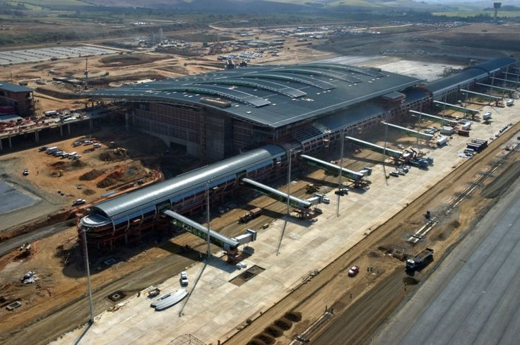 King Shaka International Airport is an integrated passenger and freight airport. The dvelopment started before the hosting of FIFA world cup in 2010. Check more @ http://www.airport-technology.com/projects/king-shaka/