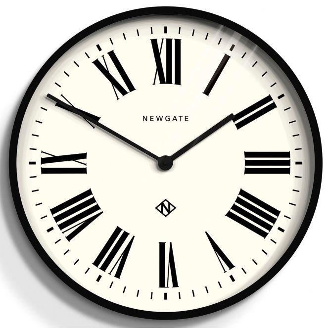 Number One Italian Wall Clock Black Newgate Clocks Roman Numeral Wall Clock Large Roman Numeral Wall Clock