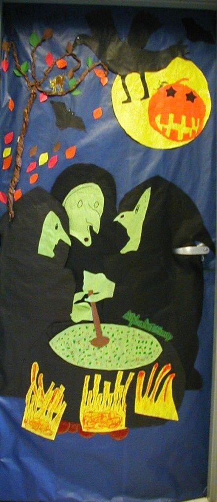 halloween door decorations | Halloween Classroom Door Decorations