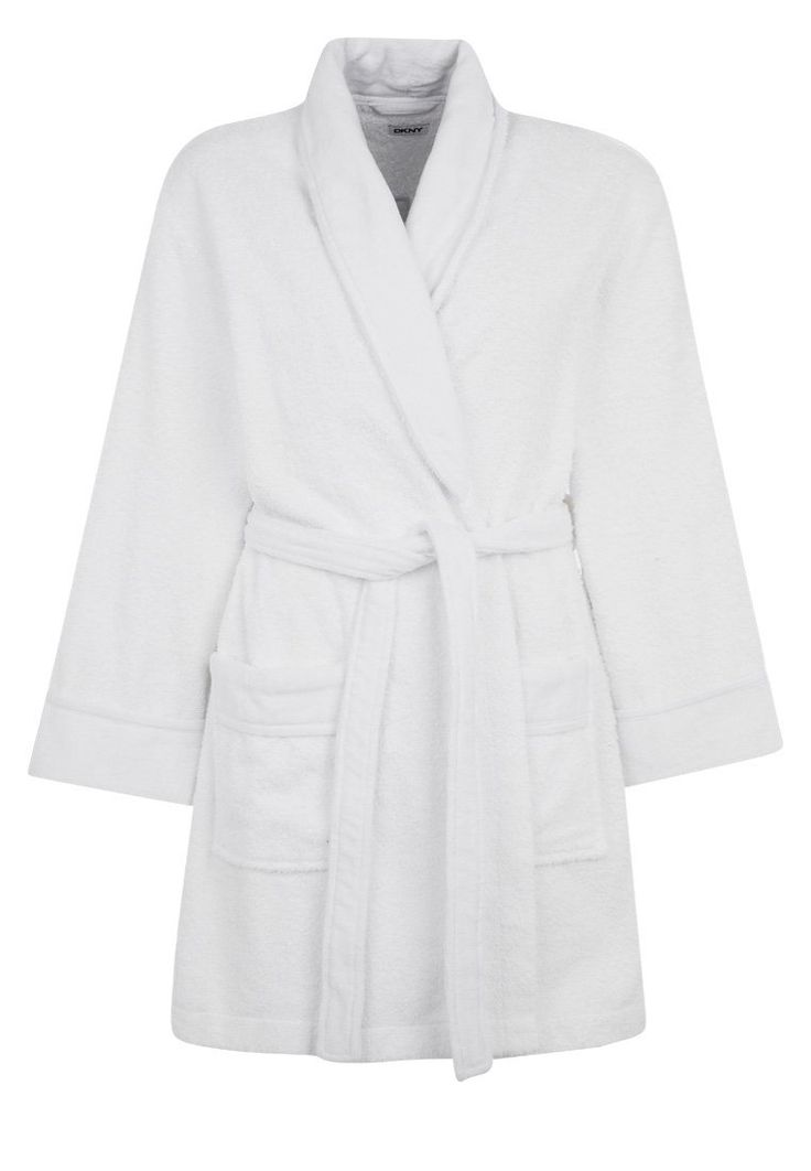 DKNY Intimates SIGNATURE COLLECTION Szlafrok white 389.00zł #moda #fashion #women #kobieta #dkny #intimates #signature #collection #szlafrok #damski #white #biały #długi