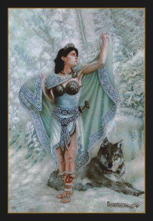 Celtic Art: Celtic Mythology; The Realistic Celtic Art work and illustrations of Celtic myth & legend by Howard David Johnson Danu, mother goddess of the Gaelic gods