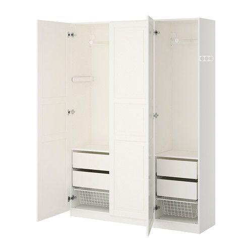 IKEA - PAX, Armoire-penderie, charnières standard, , Garantie 10 ans gratuite. Détails des conditions disponibles en magasin ou sur internet.Vous pouvez facilement adapter cette combinaison standard PAX/KOMPLEMENT à vos besoins et selon votre goût à l'aide de l'outil de planification PAX.Structure peu profonde, idéale pour les petits espaces.Pour organiser l'intérieur de vos rangements vous pouvez utiliser les aménagements intérieurs KOMPLEMENT.Les pieds réglables permettent…