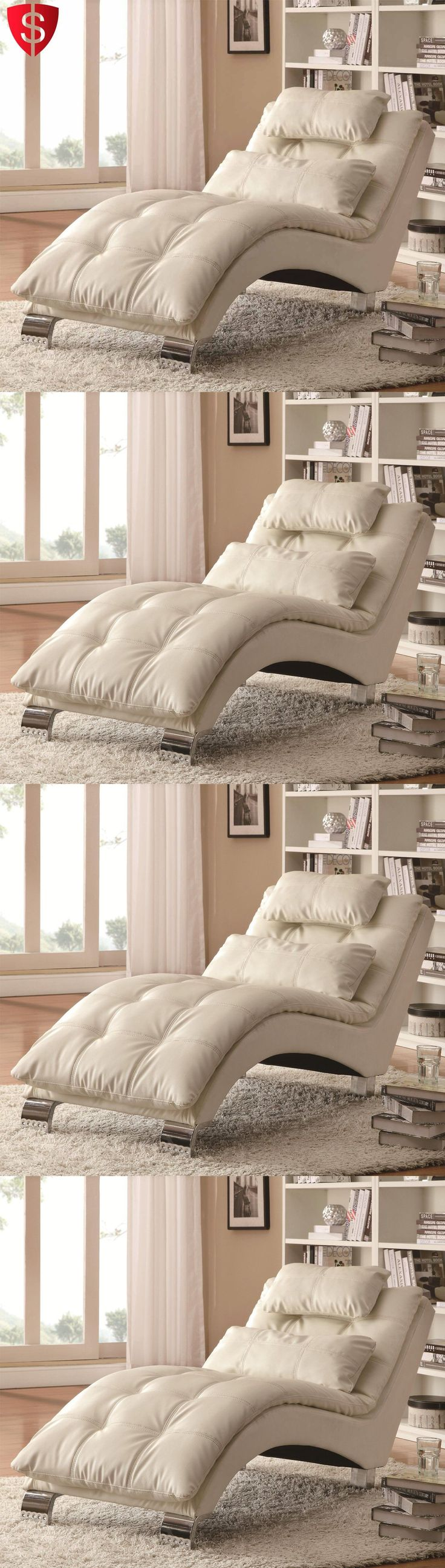 furniture: Contemporary Chaise Lounge Chair Furniture Living Room Modern Bedroom Leather BUY IT NOW ONLY: $386.27