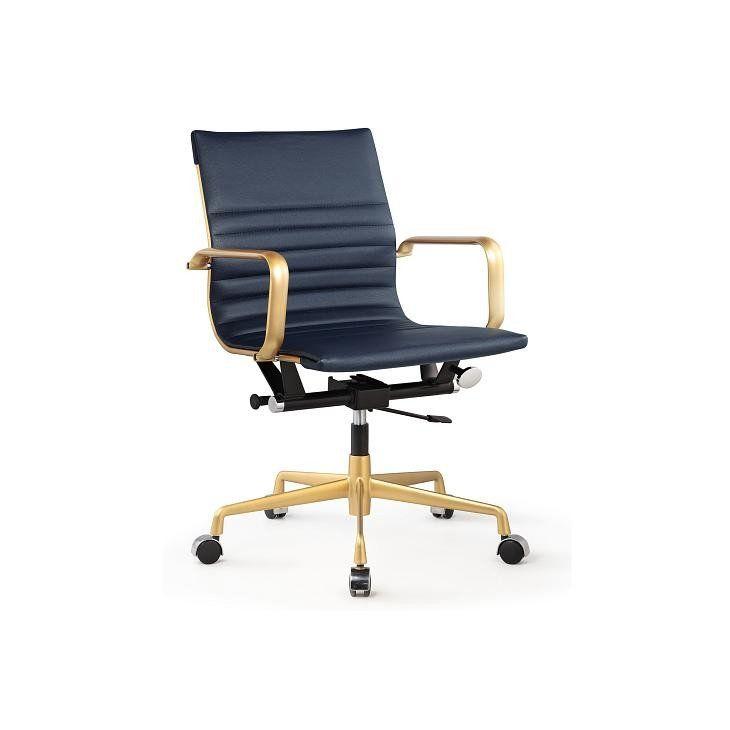 meelano m348 office chair gold