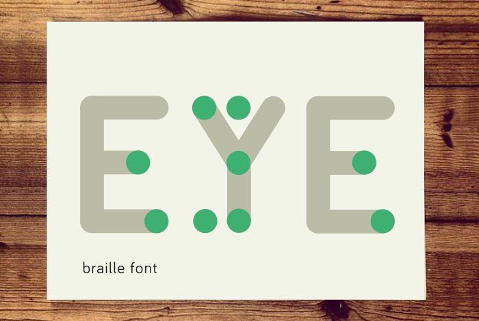 typographic braille  by Karlijn Pustjens