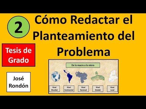 Como Redactar el Planteamiento del Problema.