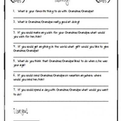 Grandparent's Day Printable Questionnaire: Classroom Stuff, Classroom Holidays, Classroom Freebies, Gifts Ideas, Grandparent S, Grandparents Day, Kids, Education, Printable Questionnaire