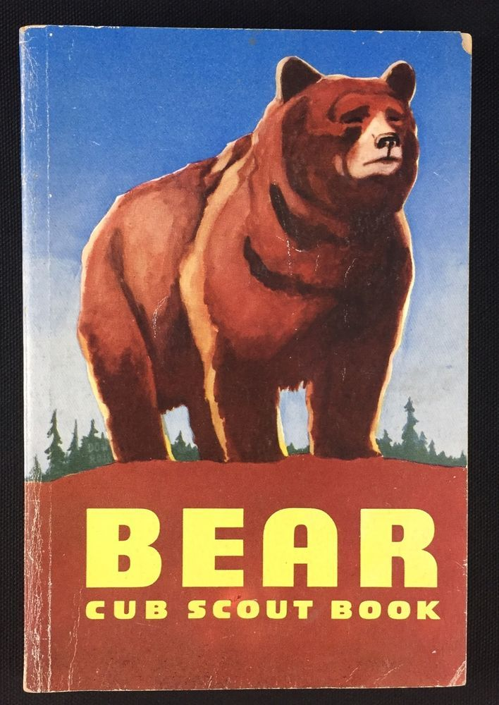 Vtg 1959 Bear Cub Scout Book Manual Boy Scouts Of America 1950s