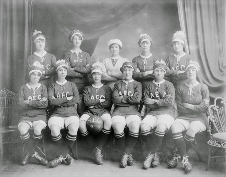 Dick, Kerr's Ladies FC in Preston. Founded in 1917, their matches drew large crowds. They continued to enjoy success until women were banned from playing in Football League grounds in 1921. British Women during the First World War