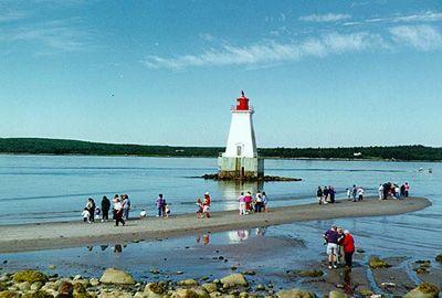 Sandy Point Lighthouse. Shelburne County, Nova Scotia.
