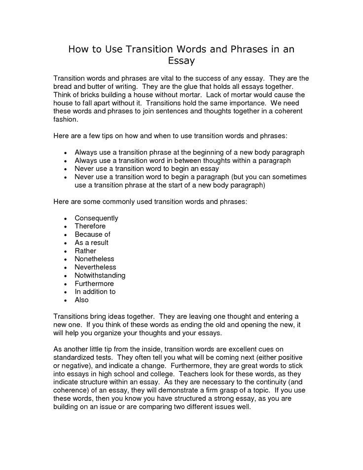 beginning words for essays An effective introductory paragraph both informs and motivates: it lets readers know what your essay is about and it encourages them to keep reading there are countless ways to begin an essay effectively as a start, here are 13 introductory strategies accompanied by examples from a wide range of .