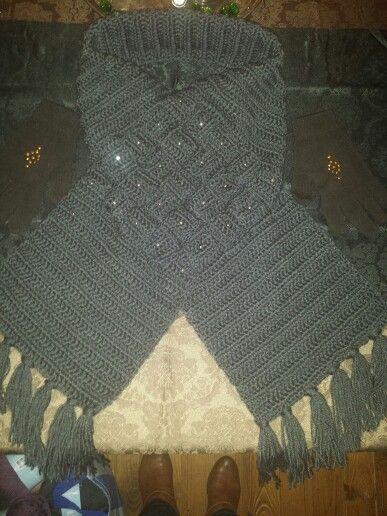 Gevlochten sjaal , gehaakt