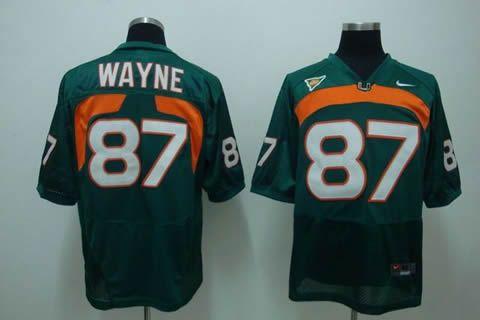 Men's NCAA Miami Hurricanes #87 Wayne Green Jersey