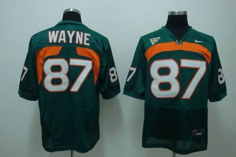 Men's NCAA Miami Hurricanes #87 Wayne Green Jersey