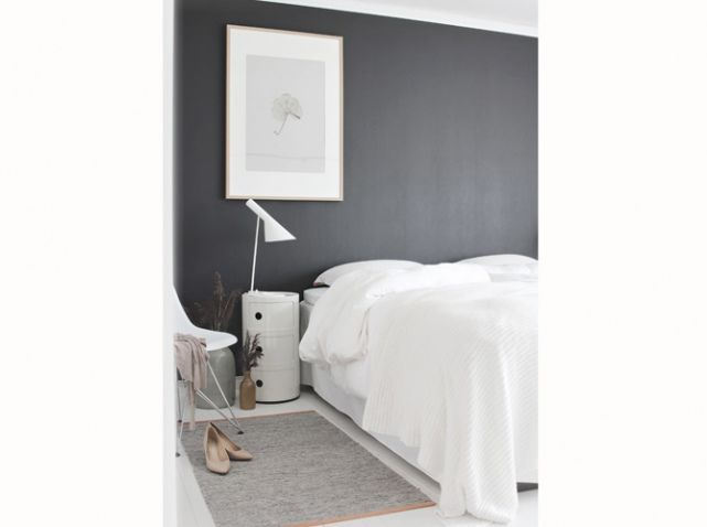 Chambre grise et blanche peinture grise mur gris