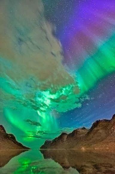 Aurora-dessus de l'Alaska