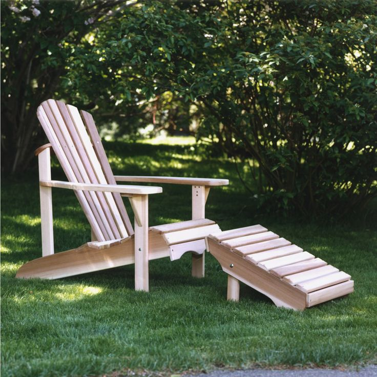Here is a premium quality Adirondack Chair with Ottoman