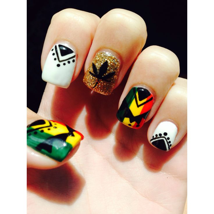 Rasta nail designs absolutely in love