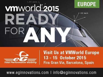Visit us : VMworld Europe, 13 - 15 October 2015, Fira Gran Via, Barcelona, Spain