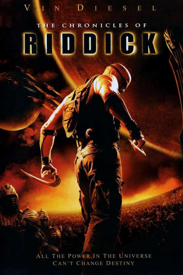 The chronicles of riddick movie poster 2004