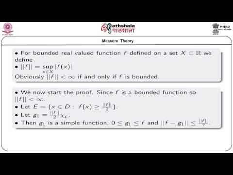 NRK ACADEMY: LEBESGUE MEASURABLE FUNCTIONS - SIMPLE FUNCTIONS A...