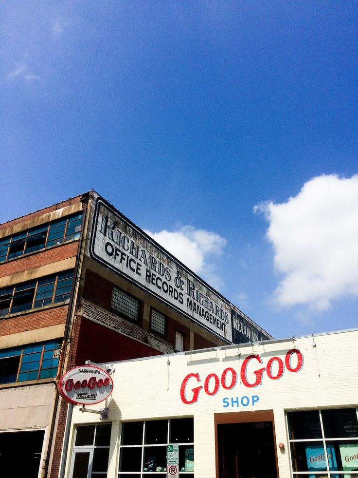 Sample a GooGoo Cluster across the street from the Johnny Cash Museum in Nashville // Salty Canary