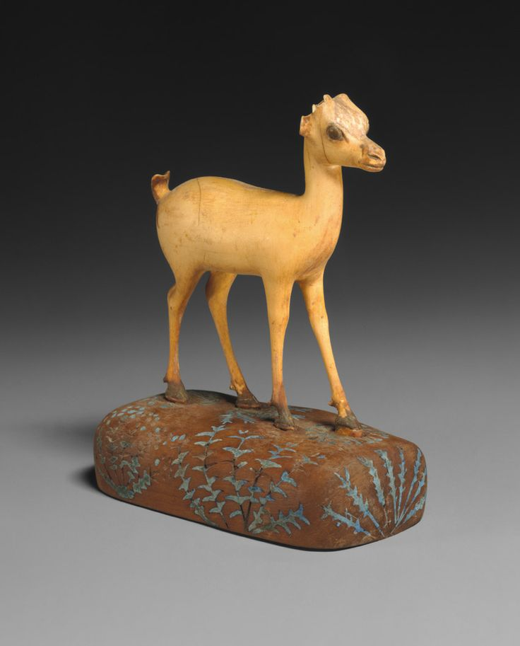 Gazelle, ca. 1390–1352 B.C. Egyptian. The Metropolitan Museum of Art, New York. Purchase, Edward S. Harkness Gift, 1926 (26.7.1292) | The gazelle's head sits alertly on a swanlike neck, and the animal's large, velvety brown eyes look with wonder at the world. #OneMetManyWorlds