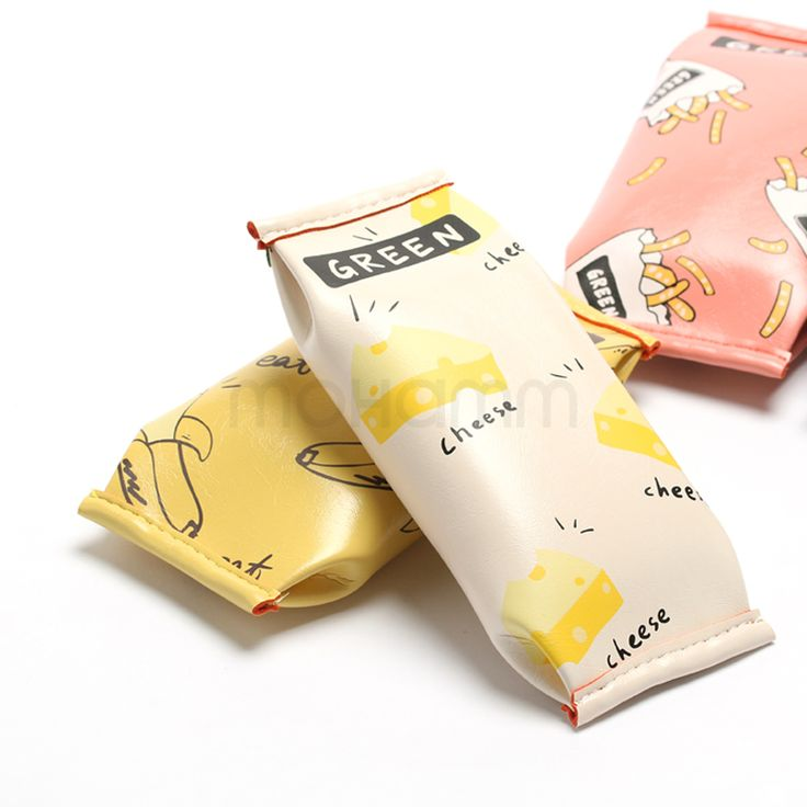1 Pcs Cute Kawaii Fruit Cake Macaroon Cookie Koran Japanese Pencil Pouch Case Bag School Makeup School Supplies Stationery