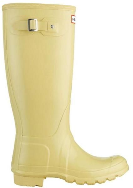 HUNTER Yellow Womens Original Tall Gloss Wellington Boots Butter Cream - Lyst