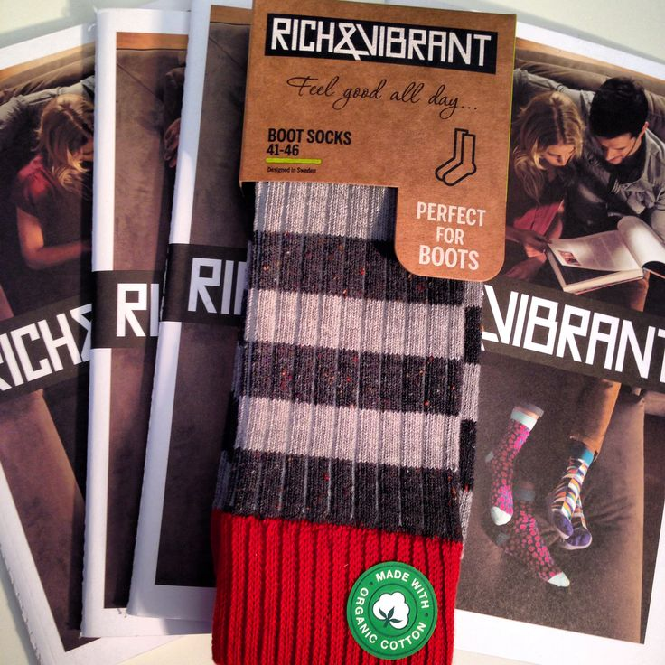 Introducing the Rich&Vibrant #bootsocks #cosy #soft and #organic as always.