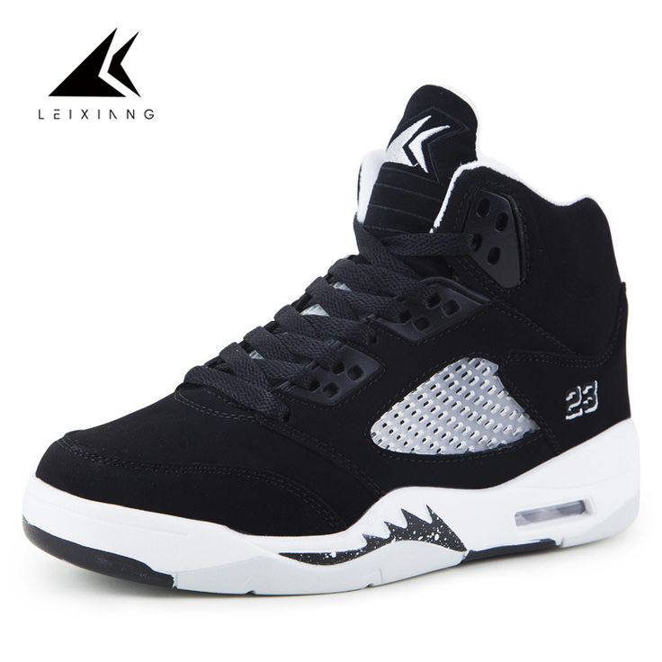 Brand Black High Top Basketball Shoes Air Cushion Baskets Homme Sneakers High Quality Sport Shoes Men Outdoor Sapatilhas 2017